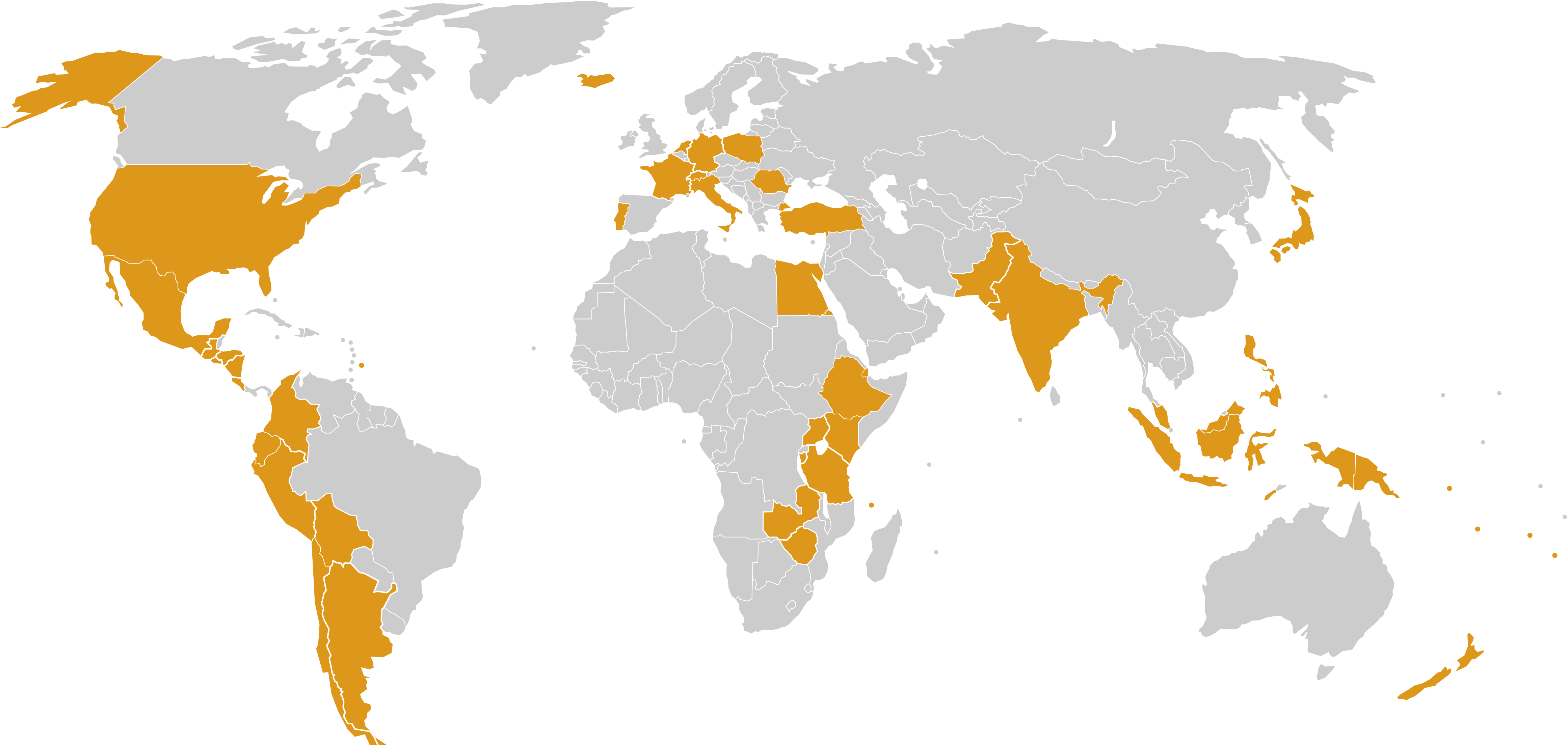 GGA Membership map